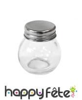 Mini bocal rond en verre de 5 cm avec couvercle