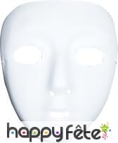 Masque blanc sans front a peindre et décorer