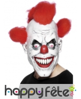 Masque clown avec cheveux rouge