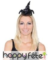 Mini chapeau arraignée de sorcière noir