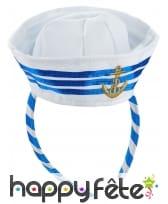 Mini chapeau bleu blanc de marin, image 1