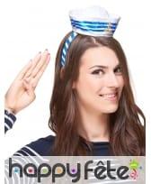 Mini chapeau bleu blanc de marin