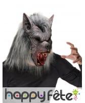 Masque complet de loup garou en fausse fourrure, image 1