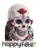 Masque complet décoré Dia de los muertos adulte