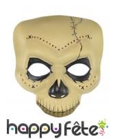 Masque crâne Dia de los muertos haut de visage