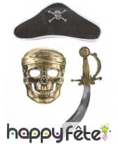 Masque, chapeau et sabre de pirate pour enfant