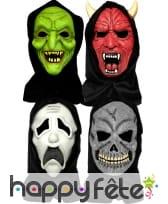 Masque complet halloween avec cagoule