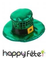 Mini chapeau Irlandais avec sequins, image 1