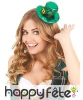 Mini chapeau Irlandais avec sequins