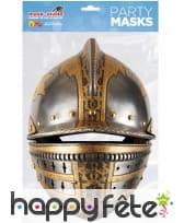 Masque casque médiéval en carton, image 1