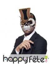 Masque crâne steampunk facial