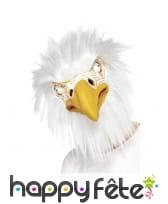 Masque d'aigle blanc intégral