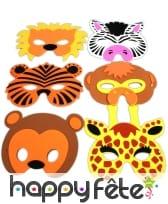 Masque d'animaux en mousse pour enfant
