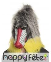 Masque de babouin intégral en latex