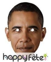 Masque de Barack Obama en carton