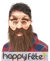 Masque de barbu brun