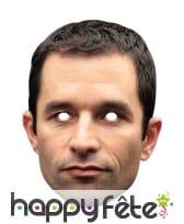 Masque de Benoît Hamon en carton plat