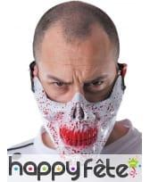 Masque de bouche squelette en sang