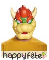 Masque de Bowser pour adulte, en plastique