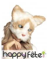 Masque de chat avec pelage pour adulte