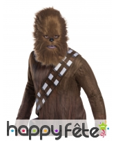 Masque de Chewbacca Star Wars avec poils, adulte