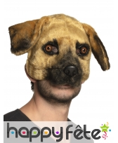 Masque de chien avec pelage pour adulte