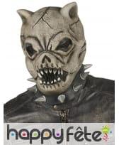 Masque de chien zombie intégral pour adulte
