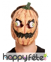 Masque de citrouille aux yeux exorbités
