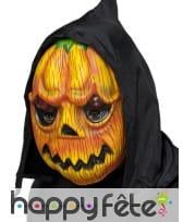 Masque de citrouille monstre avec capuche