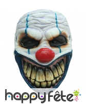 Masque de clown au sourire terrifiant