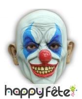 Masque de clown chauve effrayant en latex