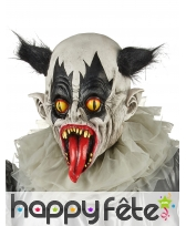 Masque de clown effrayant cheveux noirs,adulte, image 1