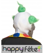 Masque de clown flou avec cheveux verts, image 1