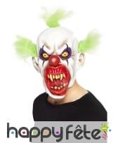 Masque de clown sinistre horrible