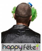 Masque de clown terrifiant cheveux verts, image 1