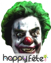 Masque de clown vampire en carton plat