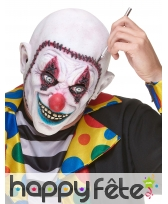 Masque de clown visage recousu