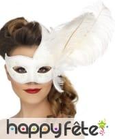 Masque de colombine orné de blanc, image 1