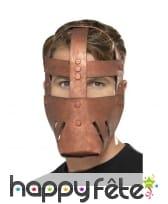 Masque de combatant romain en EVA, bronze