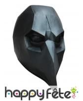 Masque de corbeau low poly noir