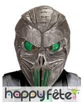 Masque de cyborg yeux verts, intégral
