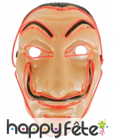 Masque de Dali lumineux en led rouge, adulte, image 1