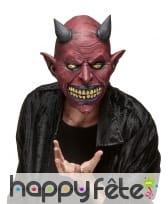 Masque de diable intégral en latex