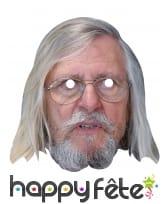 Masque de Dr Raoult en carton plat