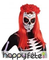 Masque Dia de los muertos blanc pour femme, image 1