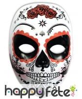 Masque Dia de los muertos blanc pour femme
