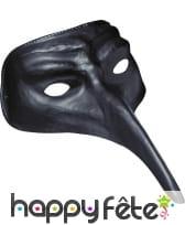 Masque docteur de la peste noir uni