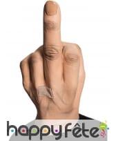 Masque doigt d'honneur