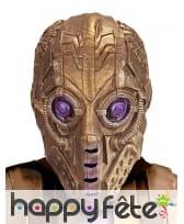 Masque doré de cyborg, intégral