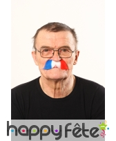 Moustaches drapeau de France